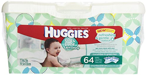 Huggies Natural Refill Tub 64 ct