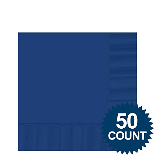 Blue 2-Ply Beverage Napkins, 50ct. - Party Supplies