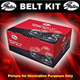 Alternator Belt Kit, Peugeot 206 05>07 1.6 Bio-Petrol Opt2/3 (+)P/S (-)A/C