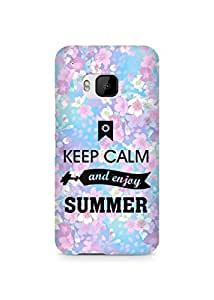 Amez Keey Calm and Enjoy Summer Back Cover For HTC One M9