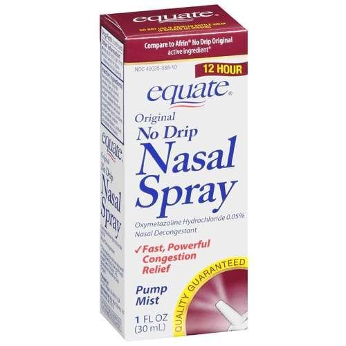 Afrin Nasal Spray http://thecoughcoldseller.blogspot.com/2011/07/equate-nasal-spray-no-drip-original.html