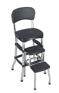 Amazon Com Cosco 11 120cbb1 Retro Chair And Stool Black