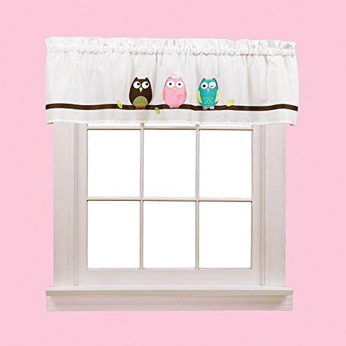 Owls White Window Valance