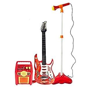 shop new kids karaoke guitar microphone amplifier toys electric rock band boy girl. Black Bedroom Furniture Sets. Home Design Ideas
