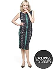 Twiggy for M&S Woman Faux Snakeskin Print Dress