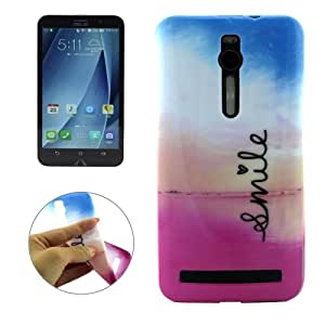 Crazy4Gadget The Colorful Sky & Love Pattern Gloss Oil TPU Protective Case for ASUS Zenfone 2