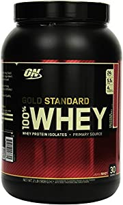Optimum Nutrition Whey Gold Standard Protein, Delicious Strawberry, 1er Pack (1 x 908 g)