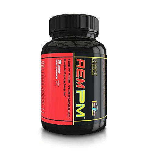 MAN Sports REM PM Sleep Aid, Night Time Thermogenic Fat Burn