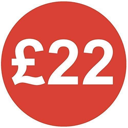 Audioprint Lot de 500Autocollants Prix £2230mm rouge