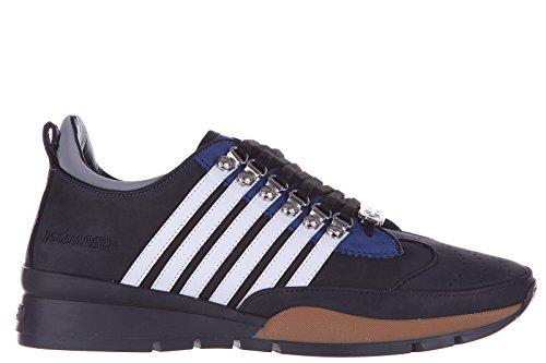 Dsquared2 Herrenschuhe Herren Leder Schuhe Sneakers 251 nabuk Schwarz EU 40.5 W15SN101 097 M063 thumbnail