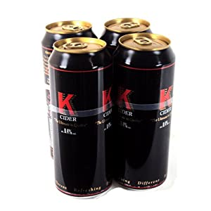 K Cider Cans 4 x 440ml 1760g