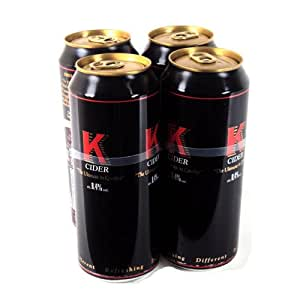 K Cider Cans 4 x 440ml 1760g