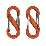 Nite Ize S-Biner Plastic Size Num 0 - Orange 2 Pack