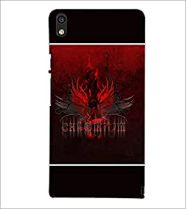 PrintDhaba Chromium D-1386 Back Case Cover for HUAWEI ASCEND P6 (Multi-Coloured)