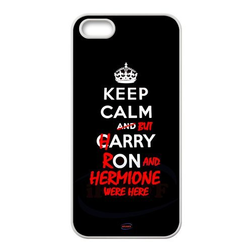 iFUOFF iPod touch 6-KEEP CALM But Happy Ron and Hermione Were Here Design White Best Plastic Protective Snap-on Case for iPod touch 6 (Iphone 5 S Case One Direction compare prices)