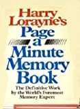 Harry Lorayne's Page-A-Minute Memory Book (0030029945) by Lorayne, Harry