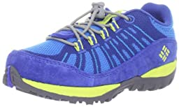 Columbia Peakfreak Enduro Bungee and Toggle Hiking Shoe,Compass Blue/Safety Yellow,12 M US Little Kid