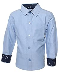 Babeezworld Boys blue full sleeves shirt-3 Year