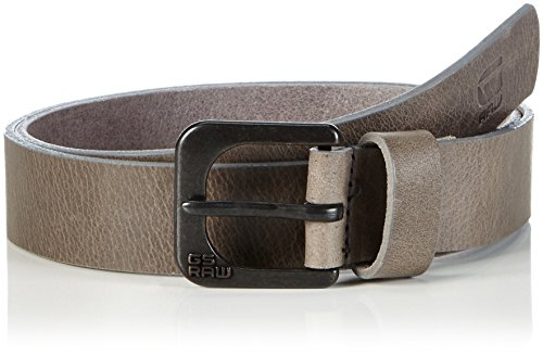 G-STAR RAW - Zed belt, Cintura uomo, Gs Grey/raw Brown 5897, 110