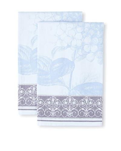Garnier-Thiebaut Set of 2 Hortensia Blue Kitchen Towels