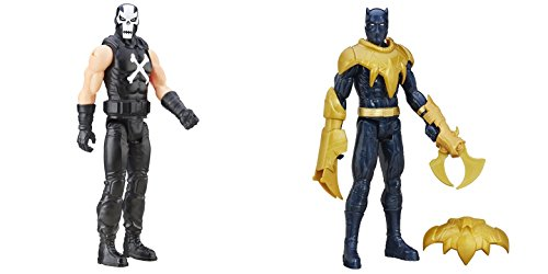 Super Hero Titan Hero Series Crossbones vs Titan Hero Series Black Panther 12-inch Action Figures Toys, 2 Pack