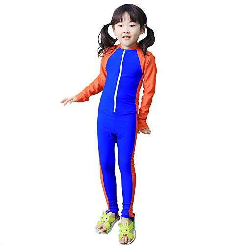 MAIBU Kids UPF 50+ Sunsuit Long Sleeve Swimwear One-piece Bodysuit Swimsuit Age 3-9years Royal Blue 2XL (31 Rolling Thermal compare prices)