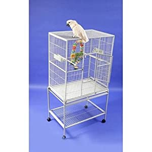 A&E CAGE CO 32-Inch by 21-Inch Flight Cage and Stand, Sandstone
