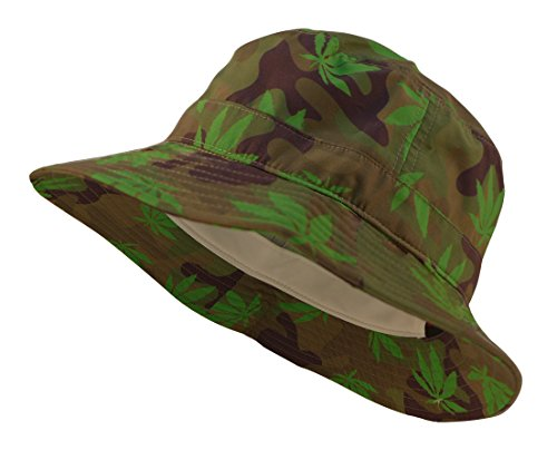 Floral-Denim-Weed-Summer-Bucket-Hat-One-Size-Marijuana-Camo