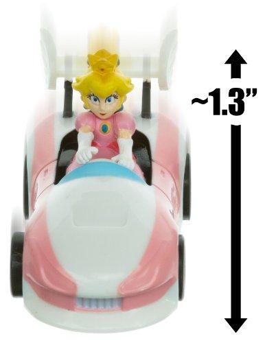 "Princess Peach Kart ~1.3"" Mario Kart Pull Back Racer"