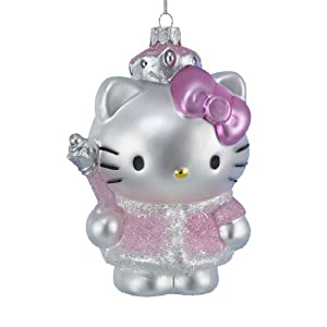 #!Cheap Kurt Adler HK4102 Glass Hello Kitty Ornament, 5-Inch