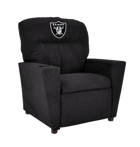 Astounding Nfl Oakland Raiders Tween Microfiber Recliner Buy Machost Co Dining Chair Design Ideas Machostcouk