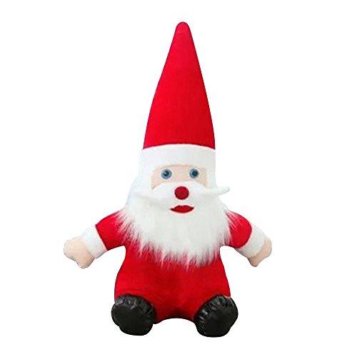 Eizur Babbo Natale Bambola Morbido Peluche Giocattoli Christmas Decorazioni Ornamento capretto bambino Regalo Festa di compleanno Decor--Altezza 30cm