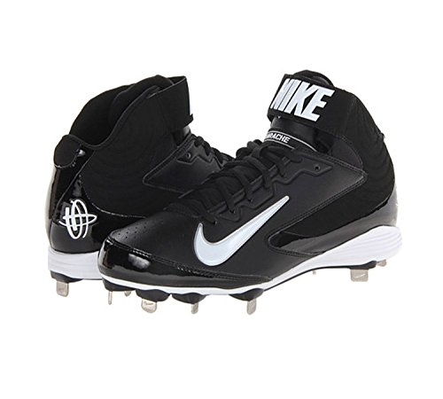 pictures of Boy's Nike Youth Huarache 2kFresh Molded Baseball Cleat Black/White Size 3.5