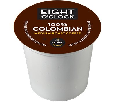 48 Count - Eight O'Clock Colombian Blend k Cup For KEURIG Brewers