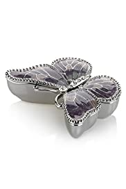 Enamel Butterfly Trinket Box