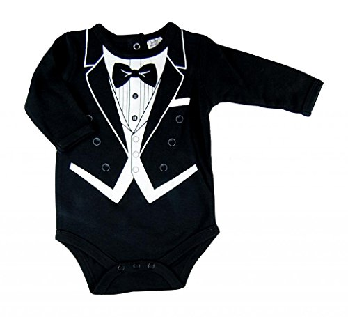 Hope Balloon Baby Boy'S 2 Piece Tuxedo Creeper With Matching Socks 9 Months Black