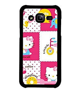 printtech Kitty Funny Cute Back Case Cover for Samsung Galaxy J2::Samsung Galaxy J2 J200F