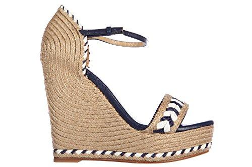 Gucci zeppe sandali donna originale bicolor beige EU 35 370496 HAX20 9864