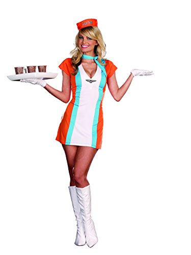 Dreamgirl Coffee, Tea or Me Retro Airline Stewardess Costume