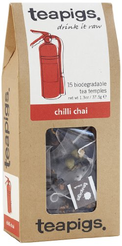 Teapigs Chilli Chai 37.5 g (Pack of 1, Total 15 Tea Bags)