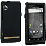 Black Rubberized Snap On Faceplate for Motorola Droid A855