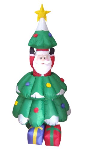 5 Foot Animated Christmas Inflatable Santa Claus