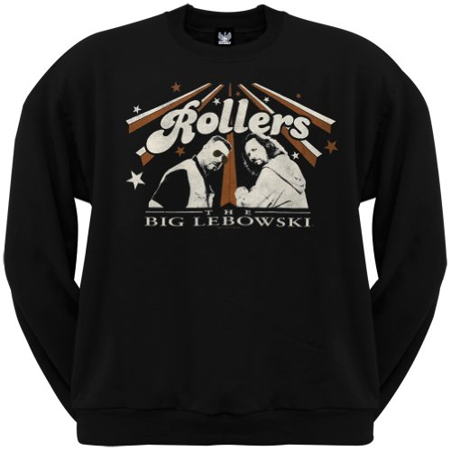 Old Glory Men's The Big Lebowski - Rollers Crew Neck Sweatshirt - Small Black