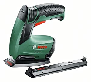 Bosch PTK 3,6 LI Office Set HomeSeries Elektrotacker + Papierhefter + Broschürenhefter + Klammern + Ladegerät (3,6V, 30 Schläge/min)  BaumarktRezension