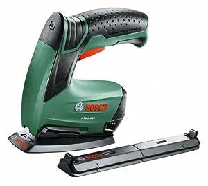 Bosch PTK 3,6 LI Office Set HomeSeries Elektrotacker + Papierhefter + Broschürenhefter + Klammern + Ladegerät (3,6V, 30 Schläge/min)