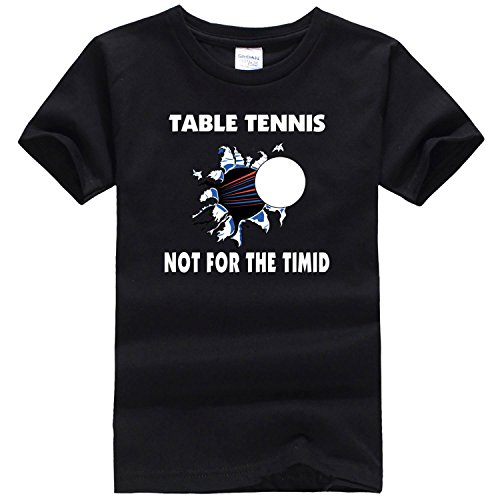 Dealong boys matching moving ping pong T shirt Small black [parallel import goods]