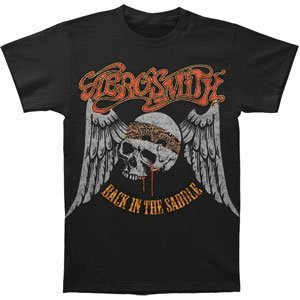 Aerosmith Men's Back In The Saddle T-shirt Black(XX-Large)