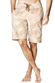 North Coast Fern Print Quick Dry Swim Shorts [T28-7876N-S]