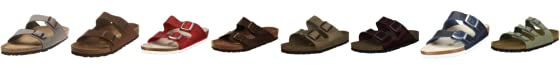 Birkenstock Arizona Nubuck Leather, Unisex Clogs