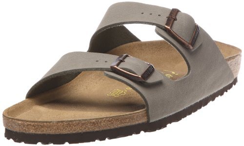 Birkenstock Womens Arizona in Stone from Birko-Flor Sandals 39.0 EU W (Birkenstock Sandals Women 39 compare prices)